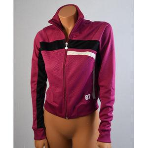 Nike Atletics bomber zip up fushia Sz S